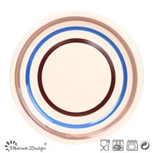 Cercles de couleur Ceramic Dinner Plate