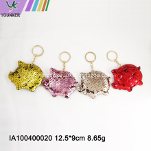 Popular sequined piglet key chain bag hanging ornaments