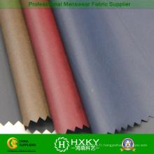 40d fibre noire avec le tissu en nylon de revêtement de mousse pour le manteau de duvet