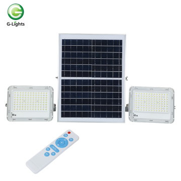 Die casting aluminum ip65 integrated solar flood lamp