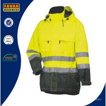 Высокая Visibiility Желтый Флис Куртка Безопасности