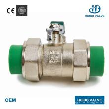 20-32mm Hot Melt Cast Iron Handle PPR Brass Ball Valve