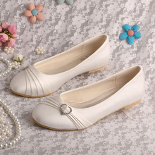 Closed Toe Gading Wedding Flats untuk Bride