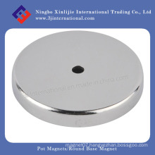 Magnetic Assembly Pot Magnets Round Base Magnet for Holding
