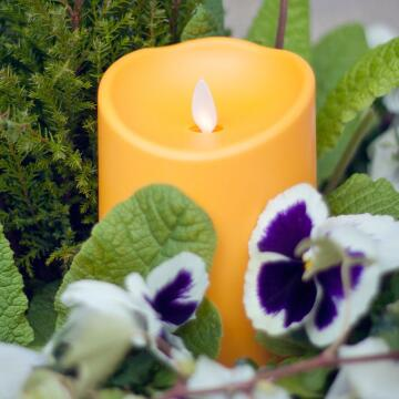 yellow outdoor candle