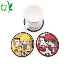 Custom Table Cartoon Figure Silicone Coffee Cup Coasters