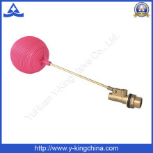Angle Brass Float Valve with Brass Stem Plastic Ball (YD-3016)