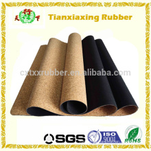 Hot Sell New Eco Cork Natural Rubber Yoga Mat Manufacturer