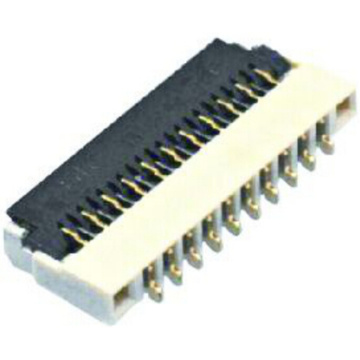0,5 mm FPC Achteruitkoppeling type connector
