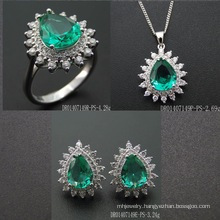 Fashion Green Spinel Pear Shape Stone Jewellery Setting