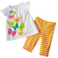 Многоцветные хлопковые топы и шорты набор из 2