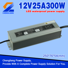 12V 25A 300W IP67 Waterproof a fonte de alimentação do interruptor