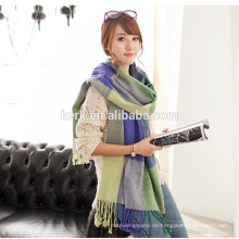 Frauen Großer Tartan Schal Pashmina Schals und Schals, Decke Wrap Wolle Schal