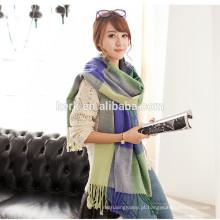 Casacos e lenços de pashmina do lenço do tartan das mulheres grandes, cobertor wrap lenço de lã