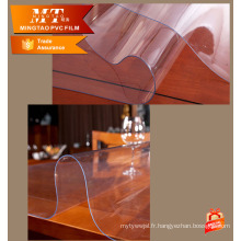 Films transparents et transparents en PVC souple et souple Rouleau pour table