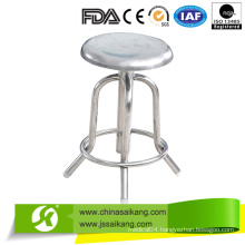 Cheap Hospital Full Stainless Steel Revolving Nurse Chair (CE/FDA/ISO)