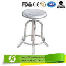 Cheap Hospital Full Stainless Steel Revolving Nurse Chair (CE/FDA/ISO)