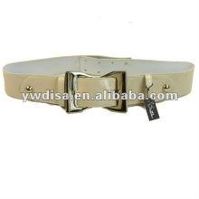 Cinturón beige PU de mujer