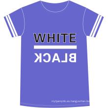 Diseña tu propio logotipo de diferentes tipos de algodón Camiseta de hombre de estampado de moda