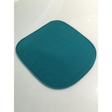 Almofada de assento removível de veludo azul moderno