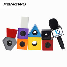 ABS Cube Cube Logo Stickers For Mic Microphone Advertising