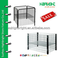 new design square mesh container