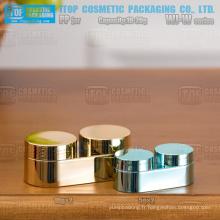 Série WJ-W couleur innovante personnalisable 10g et 20g eyeliner gel/jour & nuit chambre double crème ovale mini pot de crème pp
