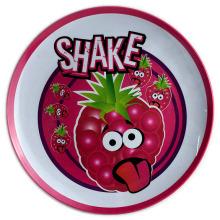 Platin de mélamine ronde de 8 pouces avec logo
