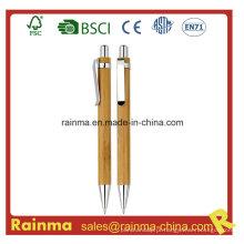 Caneta esferográfica de bambu em madeira para artigos de papelaria ecológicos632