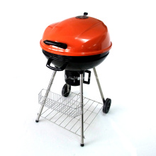 Угольный гриль-барбекю 22,5-дюймовый оранжевый