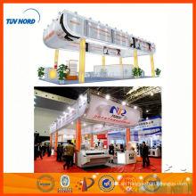 Stand de feria de Shanghai portátil, stand de feria de aluminio, exhibición de exposición