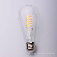 Ampoule de filament mené flexible flexible de la forme S de croix de 4 watts