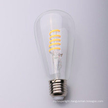 4 Watt S- cross shape Soft Flexible led filament bulb