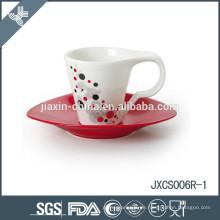 100CC 12pcs Porzellan Kaffeetasse und Untertasse