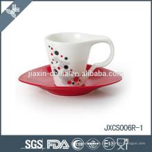 Taza y platillo de café de porcelana 100CC 12pcs