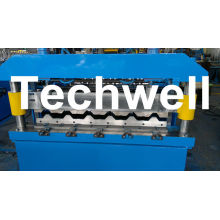 Color Steel Roof Tile Roll Forming Machine For Making Metal Roof Tile