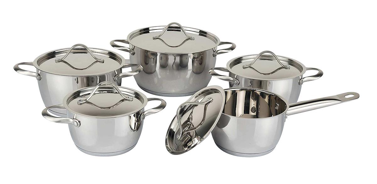Concial shape 10pcs cookware set