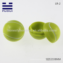 NEW!! Wholesale Promotional 38mm ABS Tiny Tennis Ball Shape Lip Balm Container