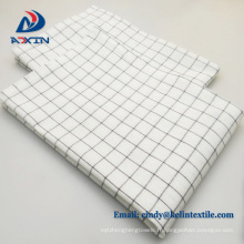 Gaufrier en coton imprimé à carreaux personnalisé