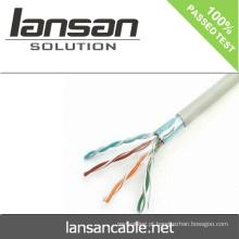 Lansan 4 pares rj45 cat5e cabo de rede 24awg BC cabo 305m melhor preço lan cabo de boa qualidade