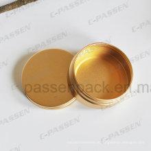 Lata de lata de alumínio anodizado ouro chá
