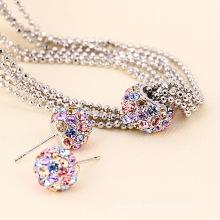 Xuping Multicolour Ball Chains Fashion Jewelry Set (60996)