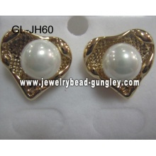 gift heart shape shell pearl earrings