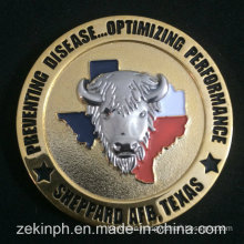 Custom 3D Two-Tone Finished Challenge Coins & Souvenir Coins