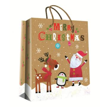 CHRISTMAS SERIES KRAFT GIFTBAG39-0