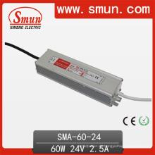 Fuente de alimentación de la transferencia de la prenda impermeable IP67 del conductor de 60W 2.5A 12-24VDC LED