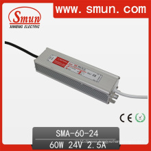 60W 2.5A 12-24VDC LED Driver Waterproof IP67 Switching Power Supply