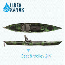 4.3m LLDPE / HDPE Rotomoulded Fischerei sitzen auf Oberseite Kajak-Großverkauf, beständige Qualität, guter Preis