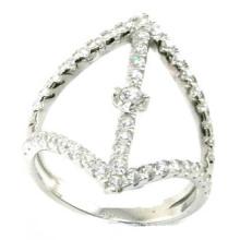 2015 La mode la plus nouvelle et le prix en usine 925 S Bague en bijoux en argent (R10428)