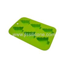 Green Christmas Tree Shape Ice Cube Tray With 6 Cavities